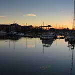 Low light reflections at Preston Docks