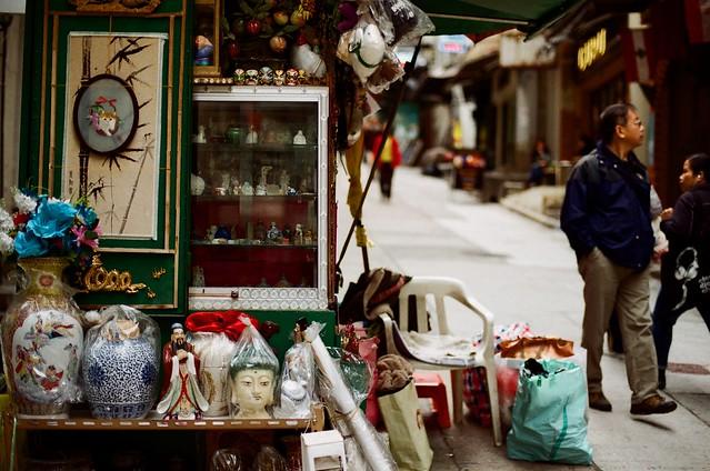 Market Stall Peel Street Hong Kong