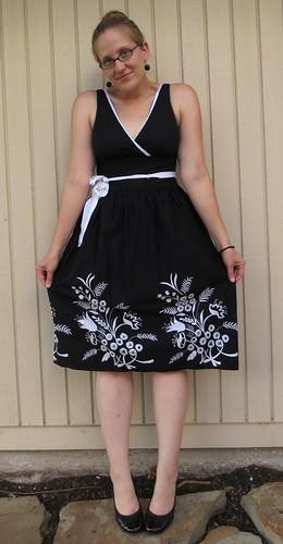 B&W Party Dress