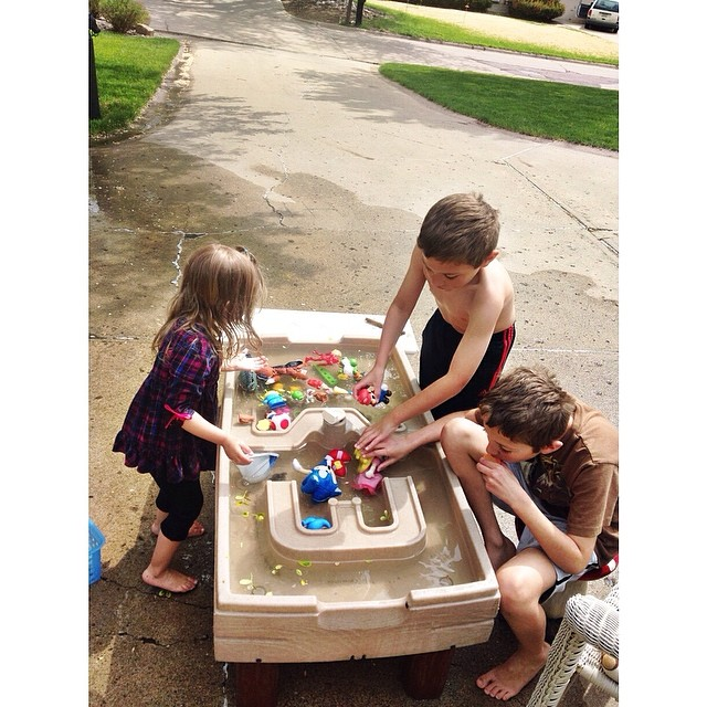 The water table never gets old! #bostinelostrio