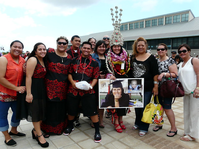 "<p>Proud family and friends celebrate with UH West Oahu graduate Tyarra Tupuola. For more photos go to <a href=""https://www.flickr.com/photos/uhwestoahu/14222094541/"">www.flickr.com/photos/uhwestoahu/14222094541/</a></p>"