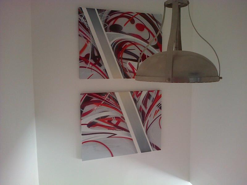 toiles graffiti escaliier