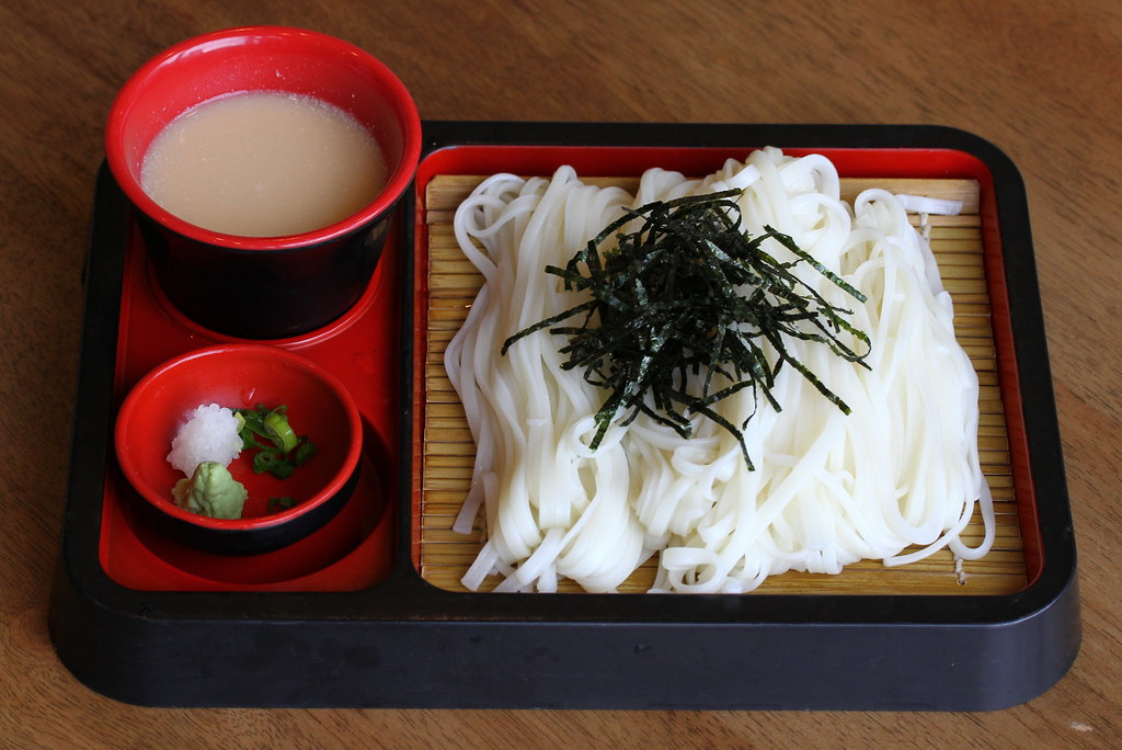 JEM Food Trail: Shin Kushiya's cold noodles served with handcut thin udon with duck dipping sauce