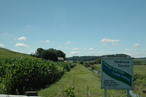 Andreas Farm installed a buffer to help improve water quality. NRCS photo.