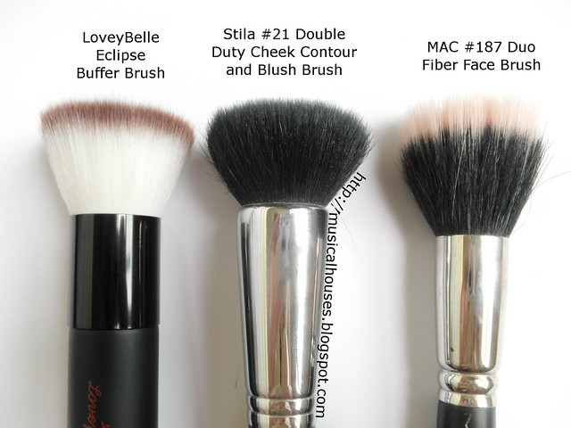 LoveyBelle MAC Stila Flat Top Powder Blush Buffer Brush