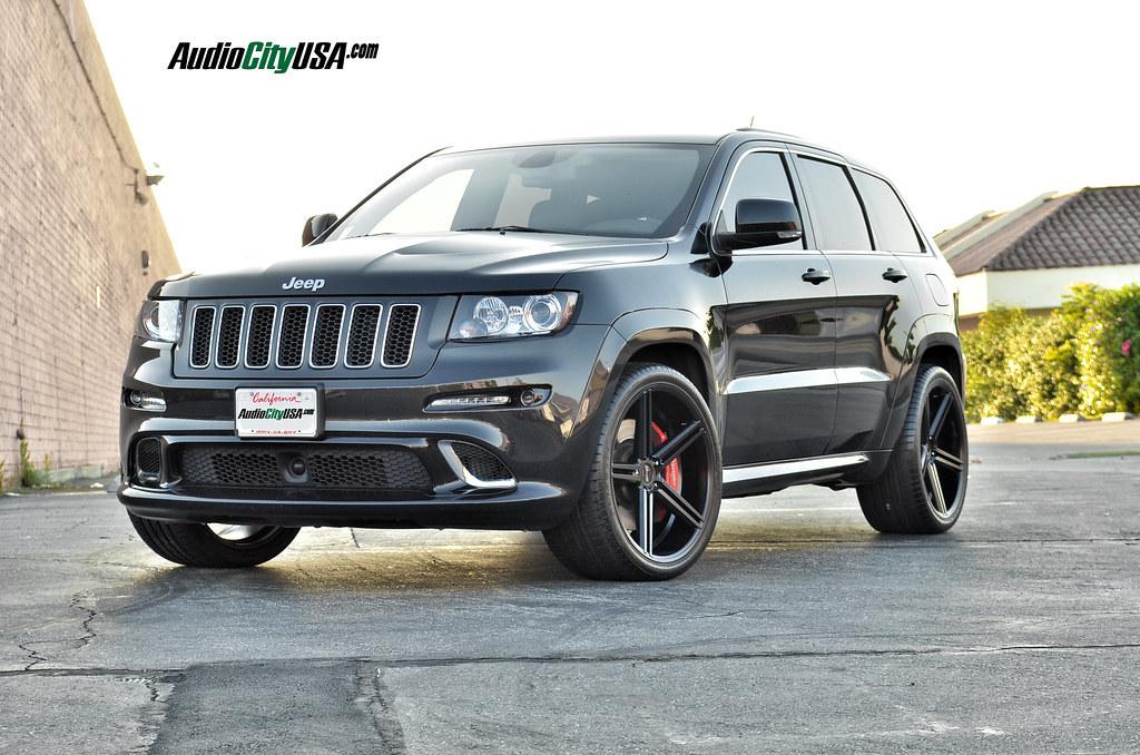 2013 jeep grand cherokee srt 8 22 gianelle lucca matte black wheels dual concave audiocityusa