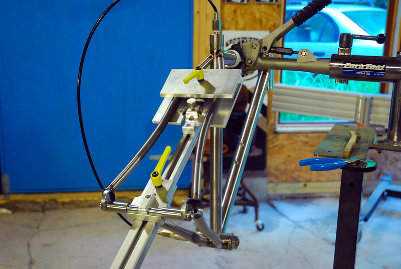 Seat Stay Tacking Jig