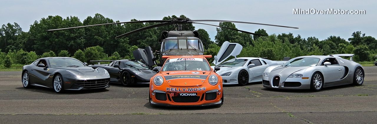 Supercars and a Black Hawk Helicopter at CF Charities