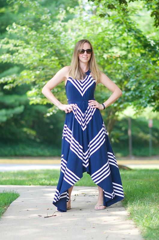 blue v dress 8