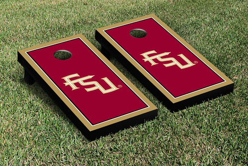 Florida State University FSU Seminoles Cornhole Game Set Border