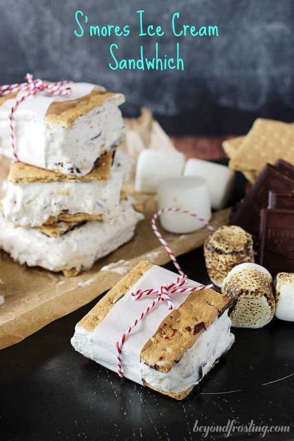 S'mores Ice Cream Sandwiches - Beyond Frosting