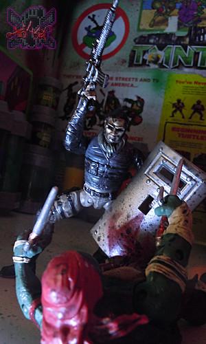 """""""NINJA TURTLES"""" Movie :: FOOT SOLDIER  { tOKKustom PARAMILITARY wash } xi // ..Foot Tactical Shield (( 2014 ))"""