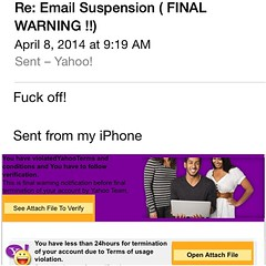 If someone with a silly email address (not the official Yahoo) sends you a mail like this, how would you react?