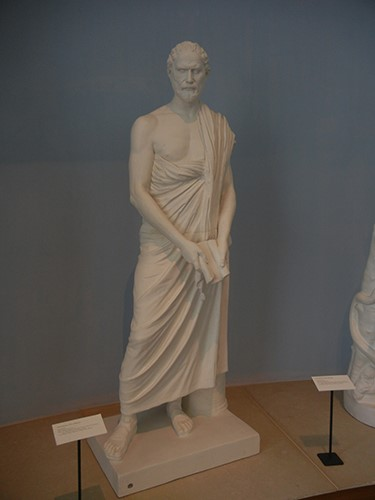 DSCN1402 _ Demosthenes, Anonymous, Greco-Roman, c 280BCE, 19th cen. reproduction, Blanton Museum
