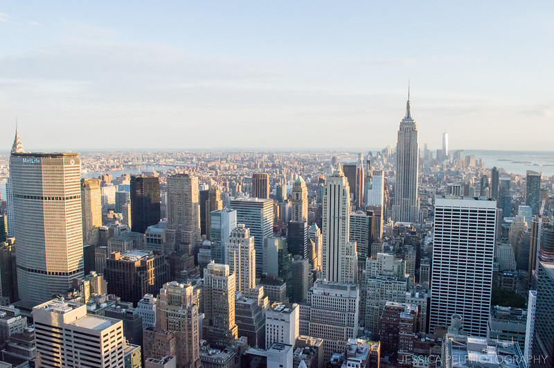 Chrysler Building in New York from Top of the Rock