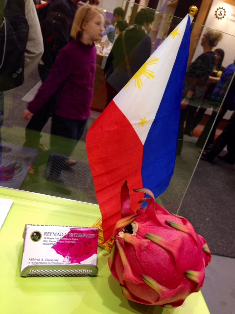 dragonfruit with the flag
