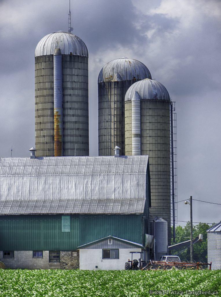 Barn and Three Silos