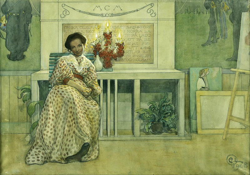 Carl Larsson - After the prom (1908)