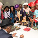 Olabode Ogunlana signing books at Africa Writes 2014