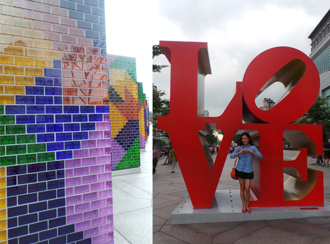 Taiwan Love sculpture