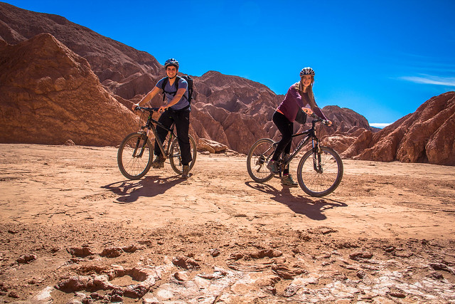 Biking in Valle de la Muerte, Atacama Desert, Chile