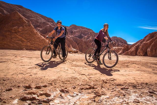 Biking in Valle de la Muerte, Atacama Desert, Chile