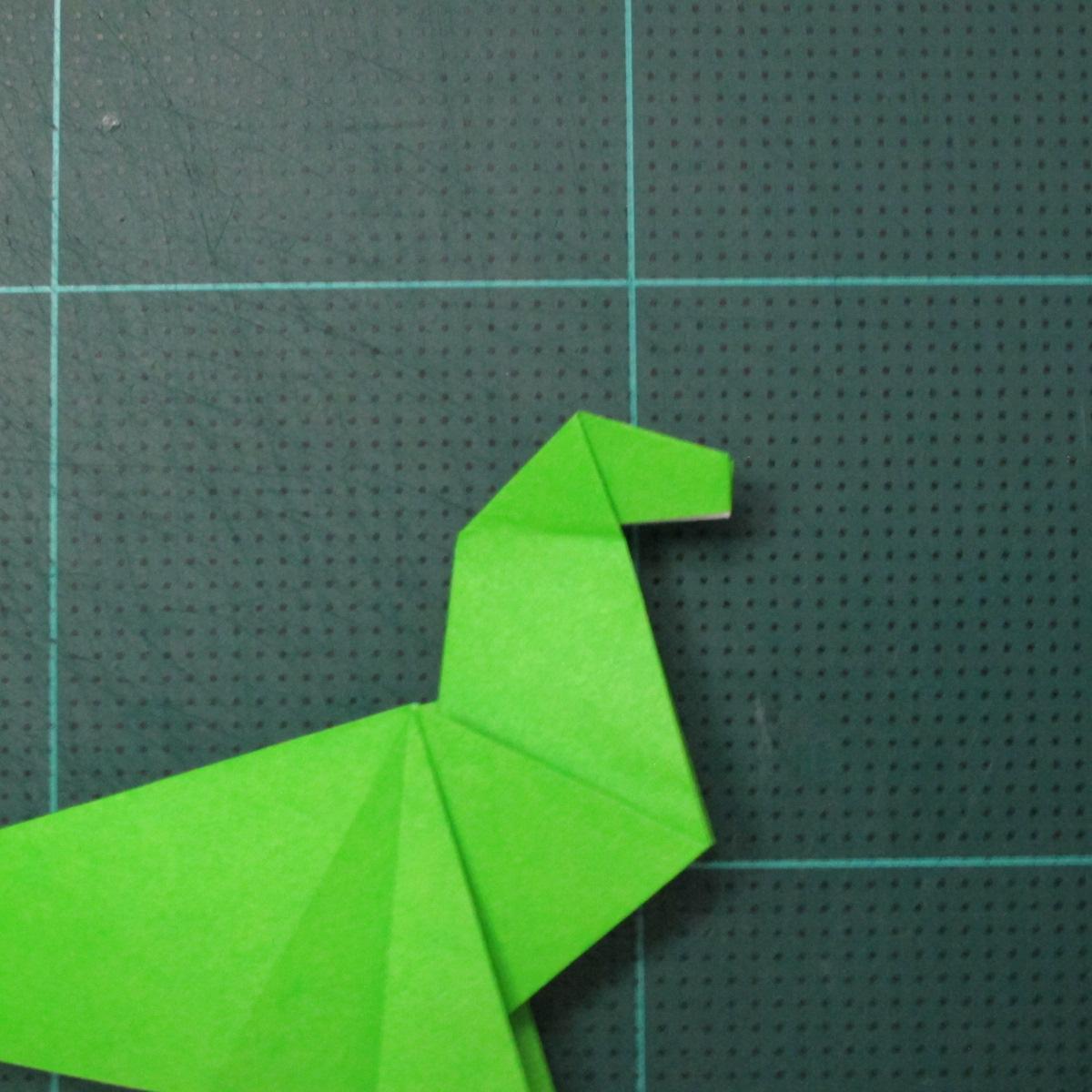 การพับกระดาษเป็นรูปแมวน้ำ (Origami Seal) 011