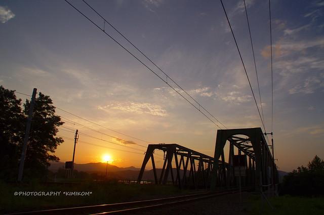 鉄分補給の夕空