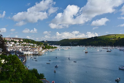 View over Dartmouth and the River Dart