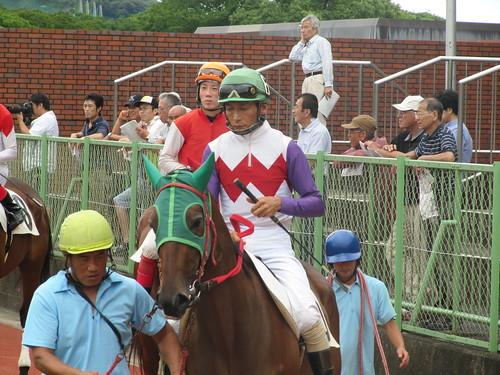 佐賀競馬場の鮫島騎手
