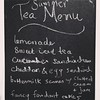 Summer tea party menu.