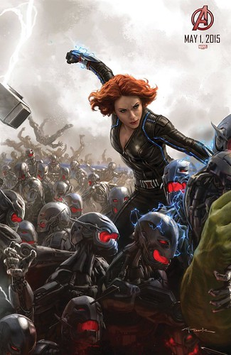 140728(2) - 2015年電影《Avengers: Age of Ultron》(復仇者聯盟2:奧創紀元)9大超級英雄合體海報出爐、台灣4/22隆重上映! 4