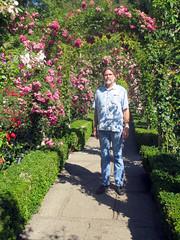 Simonov in rose garden