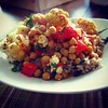 Baked chickpeas with cauliflower and red peppers #food #spices