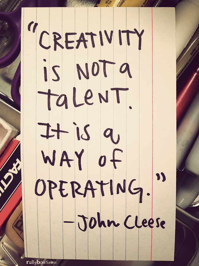 creativity-is-not-a-talent-quote