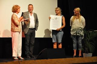 Ingela Ekdahl Johansson fick ett pris till en barnbokshandlares minne