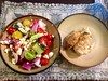 Greek Salad and BBQ chicken