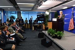 U.S. Secretary of State John Kerry delivers remarks at a launch event inaugurating the Center for American Progress' India: 2020 program, at the Center for American Progress in Washington, D.C., on July 28, 2014. [State Department photo/ Public Domain]
