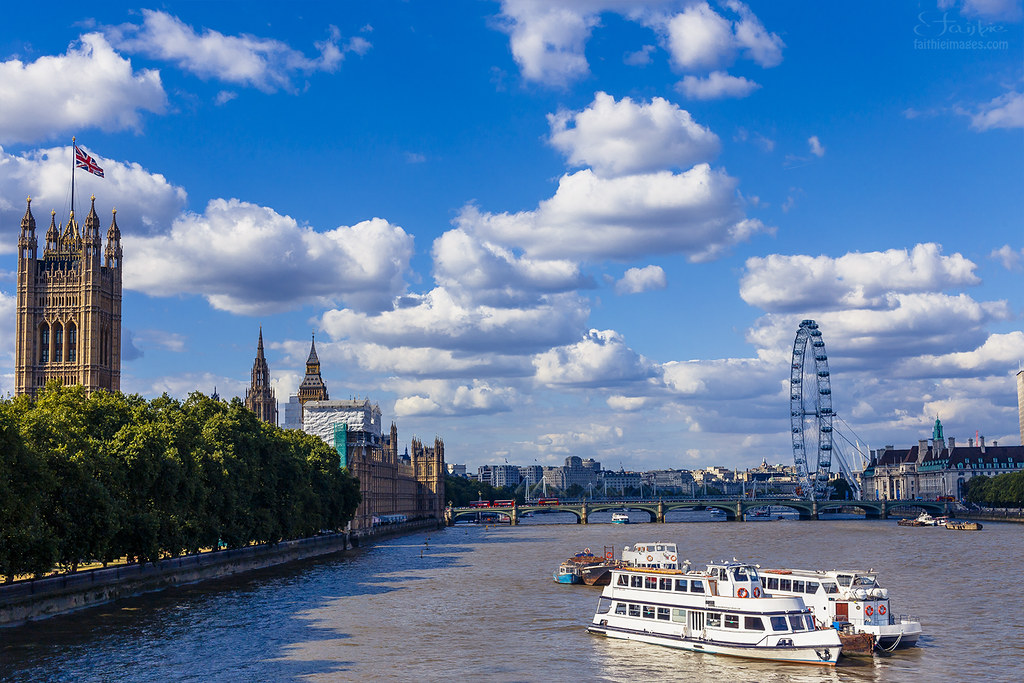 Thames River in London city centre