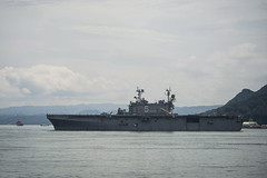 In this file photo, USS Peleliu (LHA 5) arrives in Sasebo Aug. 22. (U.S. Navy/MC2 Raul Moreno Jr.)