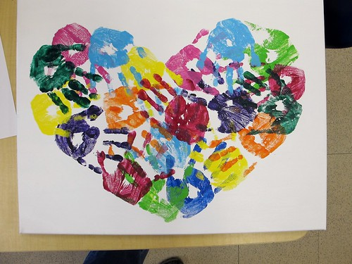 Kindergarten Art Auction Projects: Mrs. P's Hearts