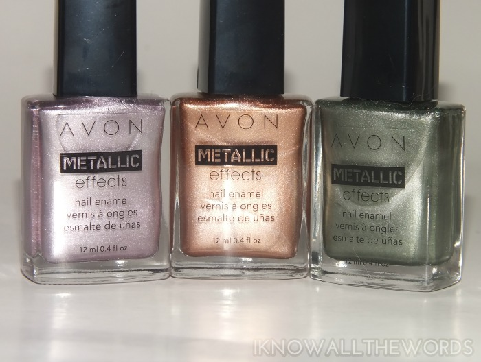 avon metallic effects nail enamel