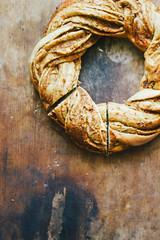 Almond & apple spelt wreath