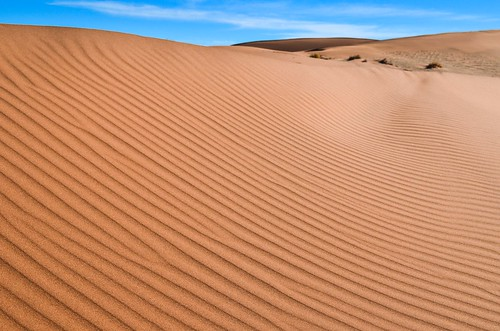 Striped sand dunes, Namibia