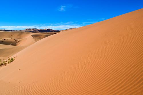 Dunes de sable striés, Namibie