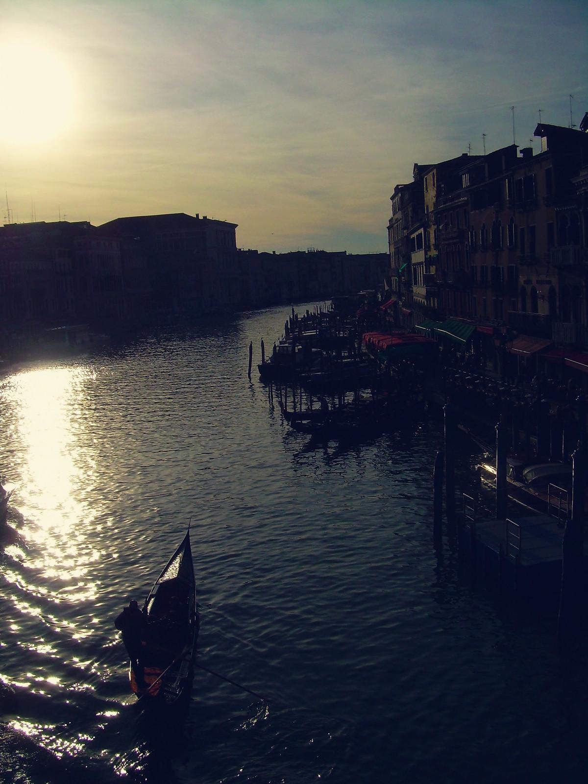 Venice sunset scene