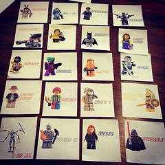 Two of my middle school kids helped with my classroom library categories/labels. Love it. #uwcsea_east #lego #minigifs