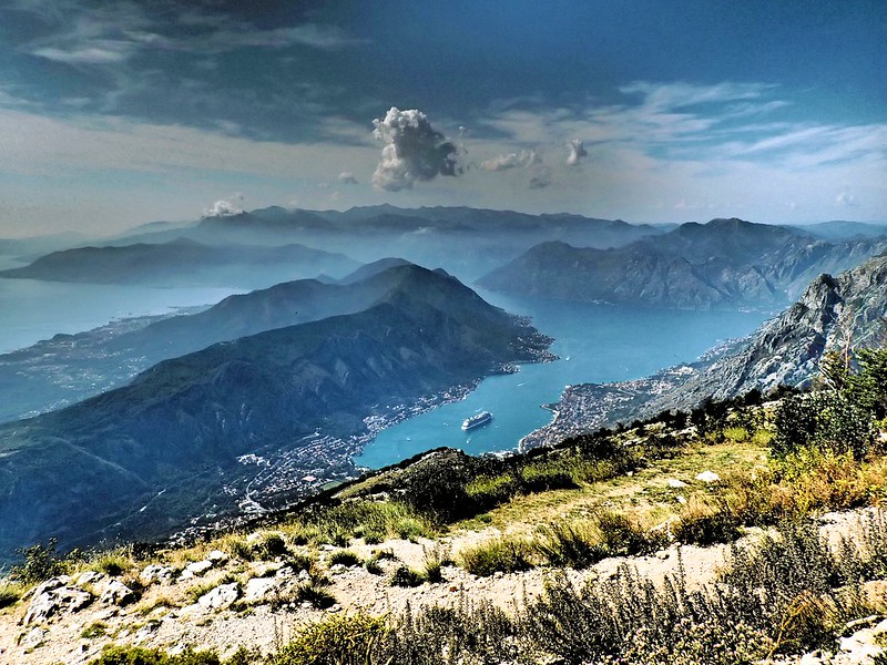 View of Bay of Kotor from Mount Lovcen, Montenegro