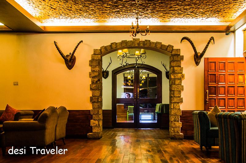Deer head lobby Johnson Lodge