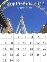 September 2014 Calendar: Blue Sky Thinking in Las Vegas @HighRollerVegas @TheLINQ @TravelNevada #nv150